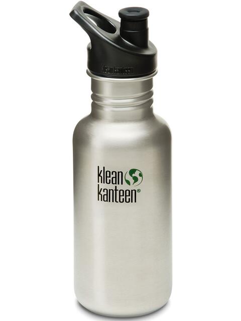 Klean Kanteen Classic Drinkfles met Sport Cap, 532 ml grijs